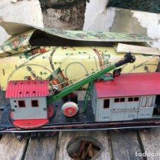 Trenes Escala: ANTIGUO VAGON DE PAYA JEFE TALLER GRUA CON CAJA ORIGINAL. Lote 150533621