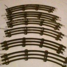 Trenes Escala: VIAS CURVAS DE TREN ESCALA 0 (SIN APARENTE MARCA DE FABRICANTE). Lote 150934398