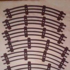 Trenes Escala: VIAS CURVAS DE TREN ESCALA 0 (SIN APARENTE MARCA DE FABRICANTE). Lote 150977170
