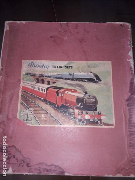 TREN BRIMTOY MADE IN ENGLAND 1930, TREN ANTIGUO, TREN A CUERDA,JUGUETE ANTIGUO (Juguetes - Trenes Escala 0)