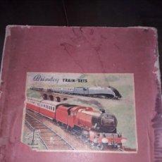 Trenes Escala: TREN BRIMTOY MADE IN ENGLAND 1930, TREN ANTIGUO, TREN A CUERDA,JUGUETE ANTIGUO. Lote 158913982
