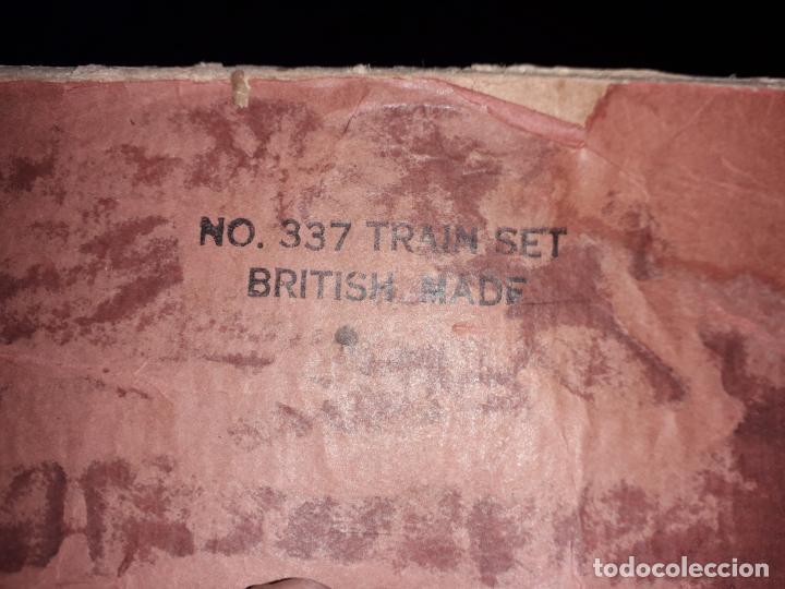 Trenes Escala: TREN BRIMTOY MADE IN ENGLAND 1930, TREN ANTIGUO, TREN A CUERDA,JUGUETE ANTIGUO - Foto 22 - 158913982
