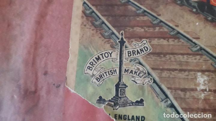 Trenes Escala: TREN BRIMTOY MADE IN ENGLAND 1930, TREN ANTIGUO, TREN A CUERDA,JUGUETE ANTIGUO - Foto 24 - 158913982
