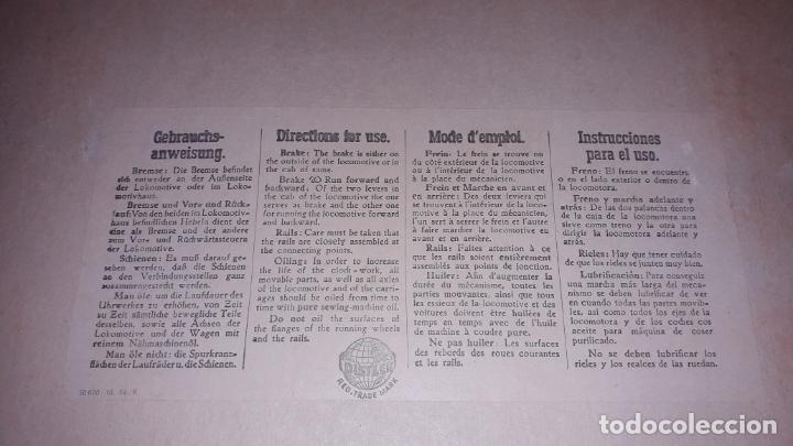 Trenes Escala: TREN DISTLER A CUERDA, TREN ANTIGUO, TREN DE JUGUETE, JUGUETE ANTIGUO - Foto 8 - 158919174