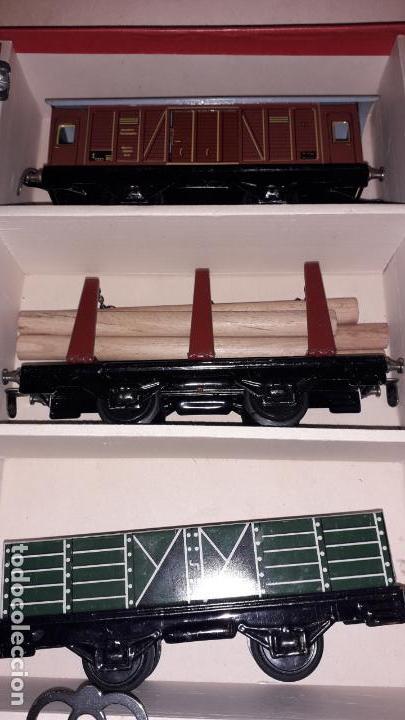 Trenes Escala: TREN DISTLER A CUERDA, TREN ANTIGUO, TREN DE JUGUETE, JUGUETE ANTIGUO - Foto 10 - 158919174