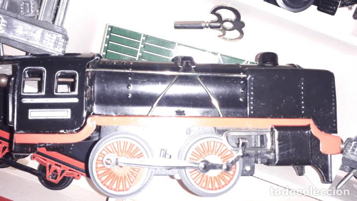 Trenes Escala: TREN DISTLER A CUERDA, TREN ANTIGUO, TREN DE JUGUETE, JUGUETE ANTIGUO - Foto 18 - 158919174