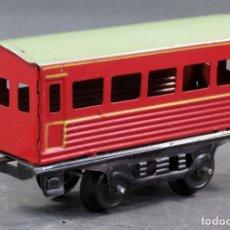 Trenes Escala: VAGÓN PASAJEROS HOJALATA PAYÁ ESCALA 0 AÑOS 50. Lote 166119002