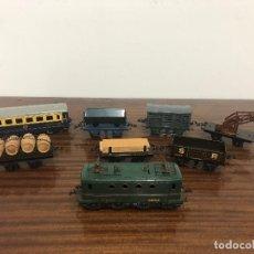 Trenes Escala: TREN HORNBY MECCANO MERCANCIAS Y PASAJEROS. Lote 173640929