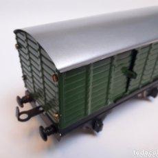 Trenes Escala: ANTIGUO VAGÓN DE MERCANCÍAS HOJALATA ESCALA 0. Lote 173670050