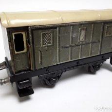 Trenes Escala: ANTIGUO VAGÓN MERCANCÍAS HOJALATA ESCALA 0. Lote 174184275