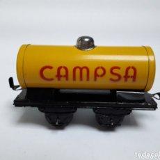 Trenes Escala: ANTIGUO VAGÓN CAMPSA HOJALATA ESCALA 0. Lote 174184687