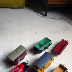 Trenes Escala: LOTE DE VAGONES HORNBY EN ESCALA 0. AÑOS 30-50. COMPATIBLE CON PAYA. Lote 176685074