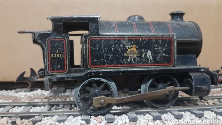 Locomotora Hornby Mecano, de cuerda. Escala 0 segunda mano