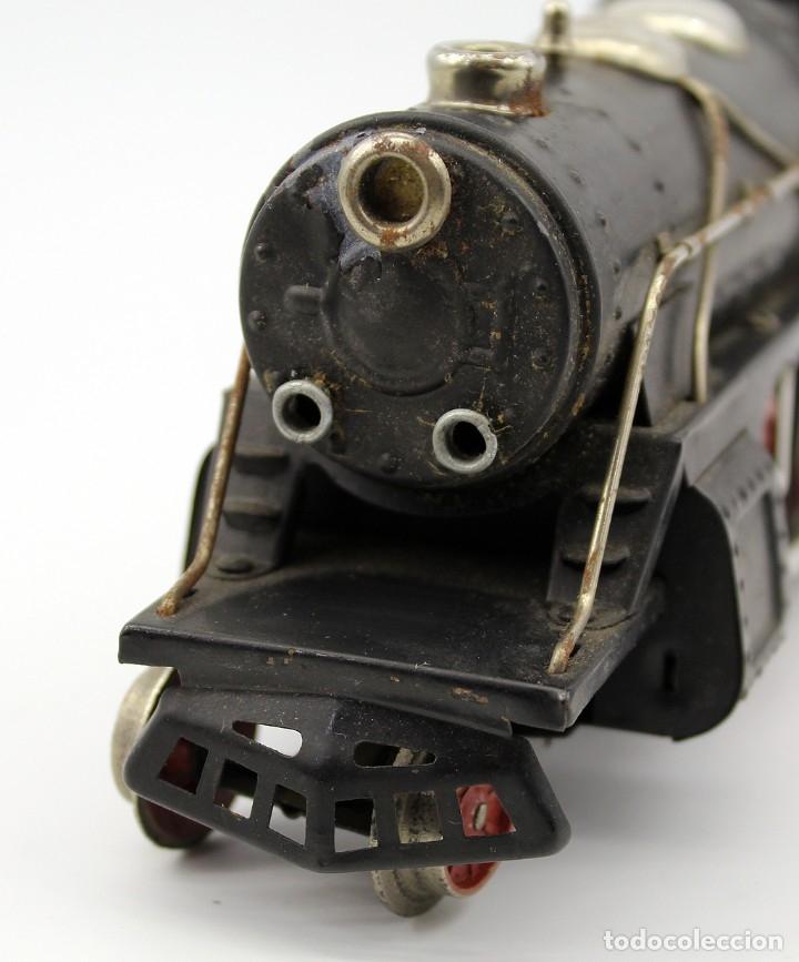 Trenes Escala: ANTIGUA LOCOMOTORA + TENDER 987 - PAYA - AÑOS 50 - ESCALA 0 - ELECTRICA - Foto 6 - 181536666