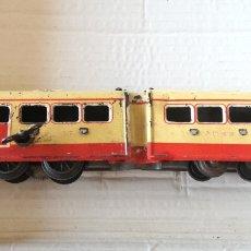 Trenes Escala: ANTIGUO TREN AUTOMOTOR A CUERDA MARCA JEP ESCALA 0 TIPO PAYA, RICO. Lote 182199893