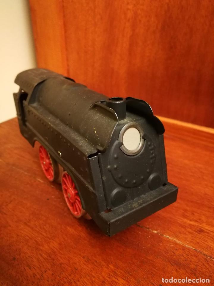 Trenes Escala: LOCOMOTORA PAYA VAPOR A CUERDA RARA ESCALA 0 - Foto 2 - 183758717