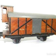 Trenes Escala: VAGÓN CUBIERTO CON GARITA MANAMO, ESCALA 0. 1944.. Lote 184240561