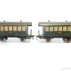 Trenes Escala: VAGONES PASAJEROS MANAMO, ESCALA 0, 1944.. Lote 184240628