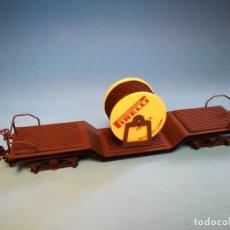 Trenes Escala: VAGON PIRELLI MANAMO ESCALA 0 BOGIES. Lote 184646570