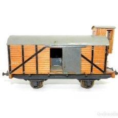 Trenes Escala: VAGÓN CUBIERTO CON GARITA MANAMO, ESCALA 0. 1944.. Lote 186057311