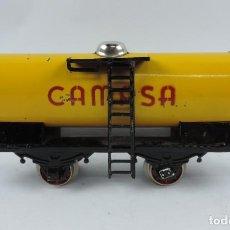 Trenes Escala: VAGON CISTERNA CAMPSA DE RICO, ESCALA 0, AÑOS 50/60, BUEN ESTADO, VER TODAS LAS FOTOGRAFIAS PUESTAS.. Lote 187164238