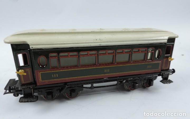 Trenes Escala: CAJA COMPLETA CON TREN ELECTRICO DE PAYA, LOCOMOTORA REF. 987 ESCALA 0, CON TRES VAGONES DE PASAJERO - Foto 6 - 187588446