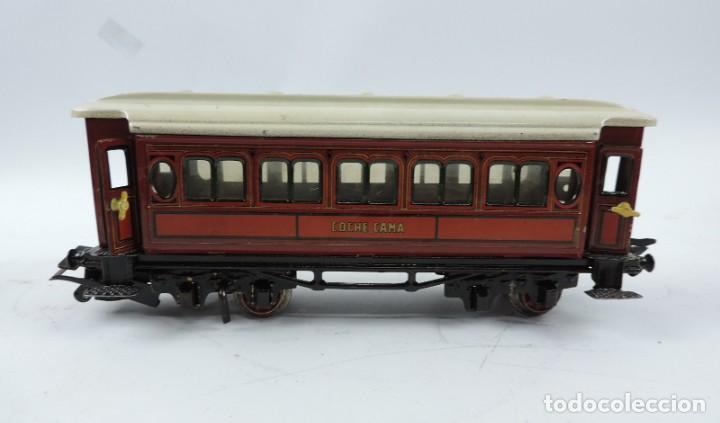 Trenes Escala: CAJA COMPLETA CON TREN ELECTRICO DE PAYA, LOCOMOTORA REF. 987 ESCALA 0, CON TRES VAGONES DE PASAJERO - Foto 12 - 187588446