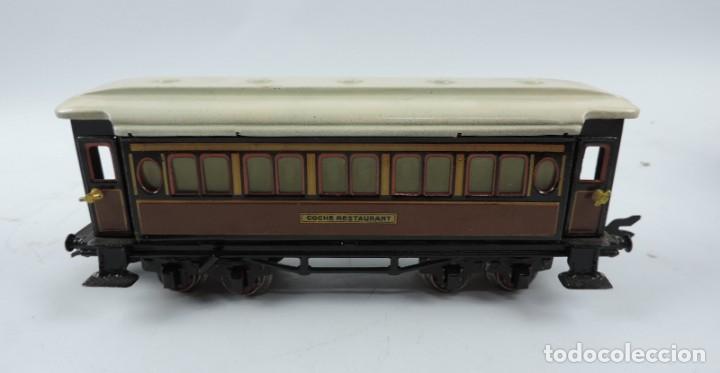 Trenes Escala: CAJA COMPLETA CON TREN ELECTRICO DE PAYA, LOCOMOTORA REF. 987 ESCALA 0, CON TRES VAGONES DE PASAJERO - Foto 16 - 187588446