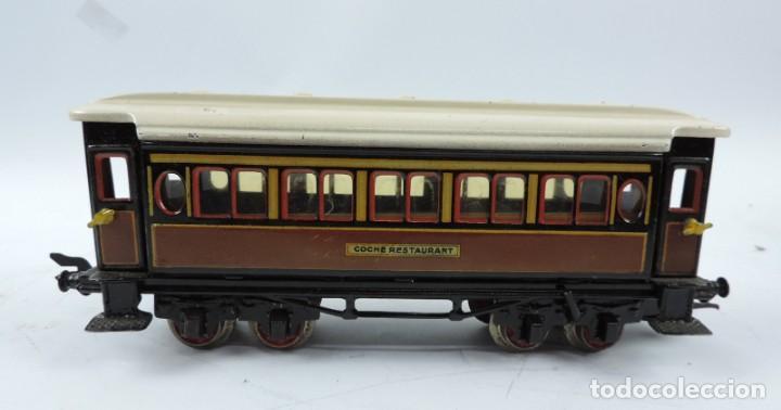 Trenes Escala: CAJA COMPLETA CON TREN ELECTRICO DE PAYA, LOCOMOTORA REF. 987 ESCALA 0, CON TRES VAGONES DE PASAJERO - Foto 18 - 187588446