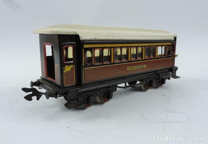 Trenes Escala: CAJA COMPLETA CON TREN ELECTRICO DE PAYA, LOCOMOTORA REF. 987 ESCALA 0, CON TRES VAGONES DE PASAJERO - Foto 19 - 187588446
