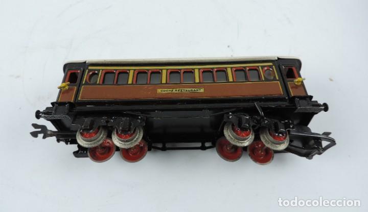 Trenes Escala: CAJA COMPLETA CON TREN ELECTRICO DE PAYA, LOCOMOTORA REF. 987 ESCALA 0, CON TRES VAGONES DE PASAJERO - Foto 20 - 187588446