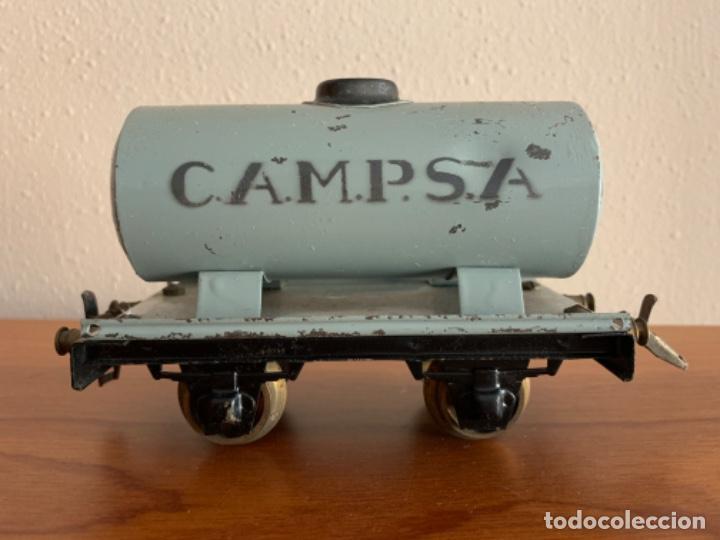 MANAMO VAGOS CISTERNA CAMPSA COLOR GRIS ESCALA 0 (Juguetes - Trenes Escala 0)