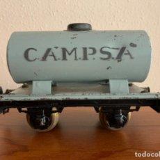 Trenes Escala: MANAMO VAGOS CISTERNA CAMPSA COLOR GRIS ESCALA 0. Lote 190451410
