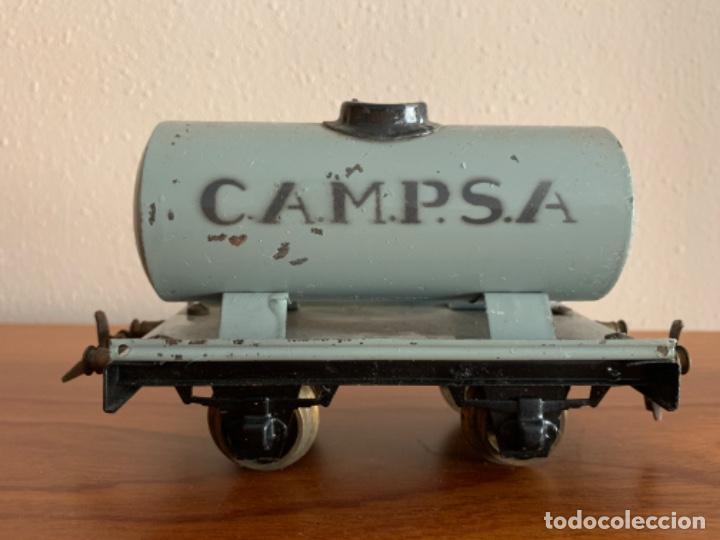 Trenes Escala: MANAMO VAGOS CISTERNA CAMPSA COLOR GRIS ESCALA 0 - Foto 2 - 190451410