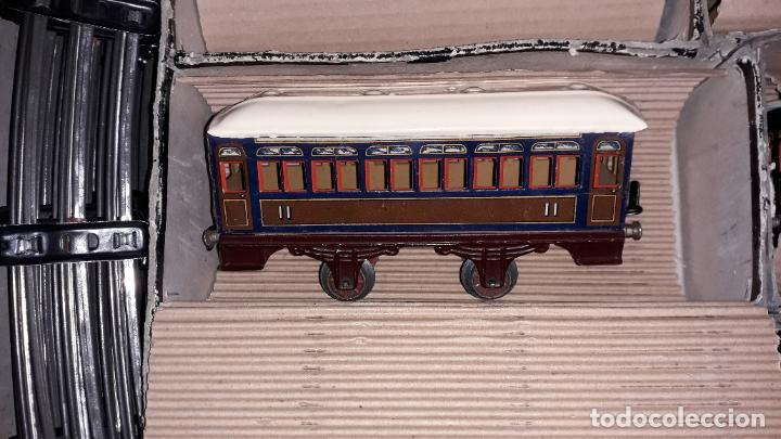 Trenes Escala: PAYA TREN PAYA EN CAHJA CON LOCOMOTORA 984 AÑO 1940 , TREN DE JUGUETE, JUGUETE ANTIGUO, TREN PAYA - Foto 25 - 192076385