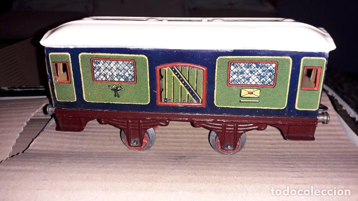 Trenes Escala: PAYA TREN PAYA EN CAHJA CON LOCOMOTORA 984 AÑO 1940 , TREN DE JUGUETE, JUGUETE ANTIGUO, TREN PAYA - Foto 39 - 192076385