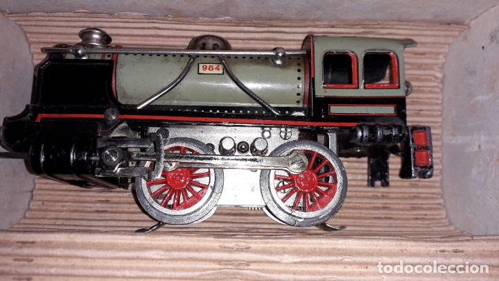 Trenes Escala: PAYA TREN PAYA EN CAHJA CON LOCOMOTORA 984 AÑO 1940 , TREN DE JUGUETE, JUGUETE ANTIGUO, TREN PAYA - Foto 48 - 192076385