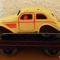 Trenes Escala: VAGÓN DE TRANSPORTE COCHE - JOSFEL - MUY BUEN ESTADO. Lote 193032460