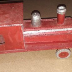 Trenes Escala: MAQUINA TREN MADERA. Lote 193809090
