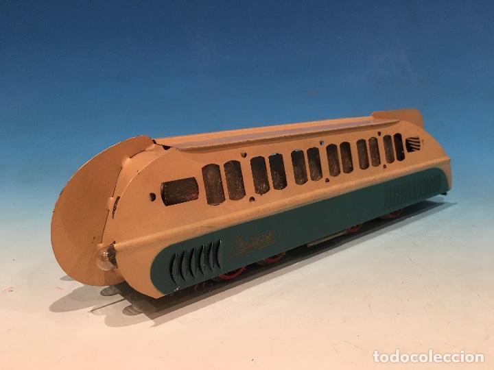 Trenes Escala: RARISIMO AUTOMOTOR LAMECA COLOR AZUL BARCELONA ESCALA 0 - Foto 3 - 194157911
