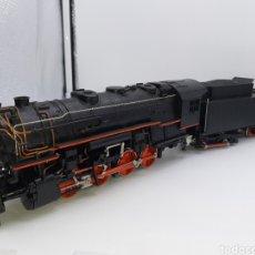 Trenes Escala: RIVAROSSI SCALA 0 - LOCOMOTORA VAPOR AMERICANA CON TENDER. Lote 194202226