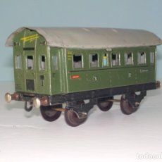 Trenes Escala: VAGÓN FLEISCHMAN DE CHAPA AÑOS 40. Lote 194554403