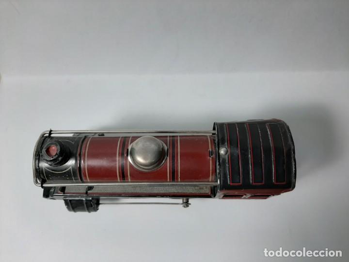 Trenes Escala: PAYA, MAQUINA 896 ROJA, A CUERDA, EL MOTOR FUNCIONA - Foto 3 - 194590297
