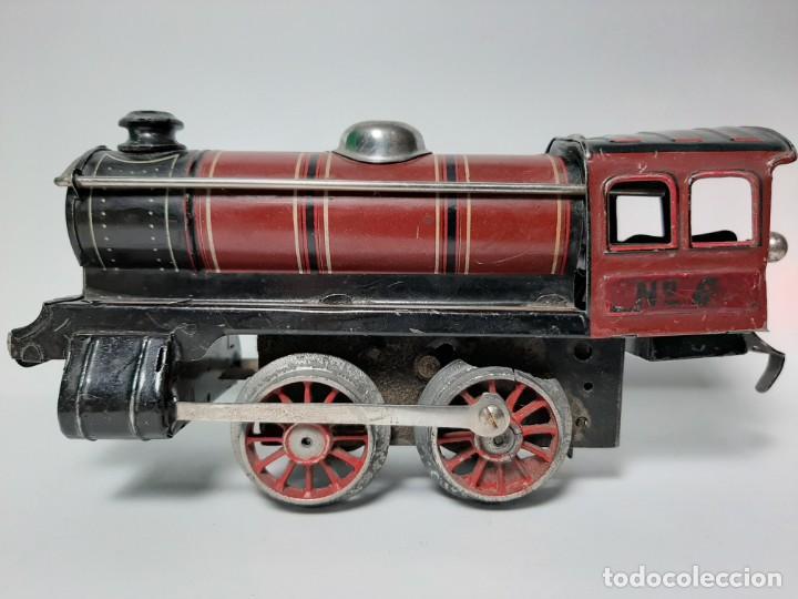 Trenes Escala: PAYA, MAQUINA 896 ROJA, A CUERDA, EL MOTOR FUNCIONA - Foto 5 - 194590297