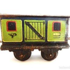 Trenes Escala: VAGÓN TREN DE CORREOS CORREO POSTAL HOJALATA DE PAYÁ. REF. 821 ESCALA 0. AÑOS 30 - 40. Lote 196114640