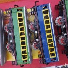 Trenes Escala: 4 VAGONES DE PAYA EN BUEN ESTADO. Lote 199485462
