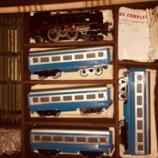 Trenes Escala: LOCOMOTORA LOCOTENDER TCE TREN COMPLETO AMERICANO JOSFEL. Lote 199619811