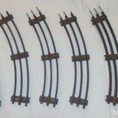 Trenes Escala: 6 VÍAS CURVAS DE HOJALATA,ESCALA 0,AÑOS 40. Lote 209080396