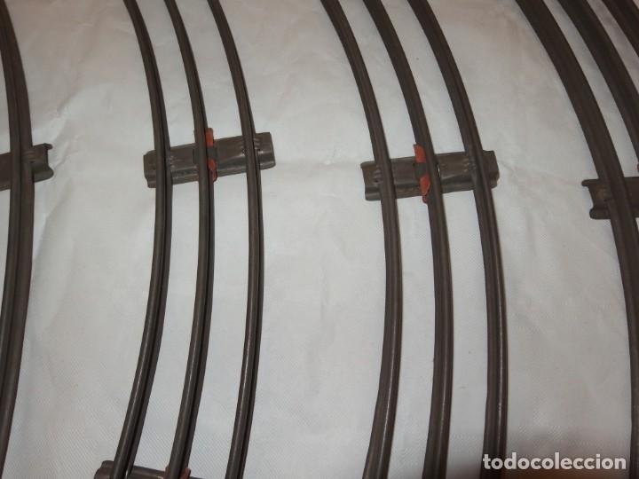 Trenes Escala: 6 VÍAS CURVAS DE HOJALATA,ESCALA 0,AÑOS 40 - Foto 2 - 209080396
