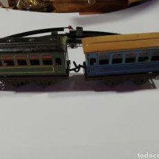 Trenes Escala: 2 VAGONES PASAJEROS PAYA Y VÍAS. Lote 212974511
